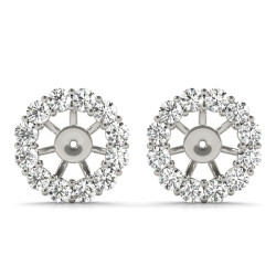 EARRING JACKET FOR 1.0 CT CENTER